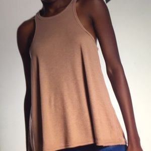 NWT Free People Long Beach Tank in Mushroom